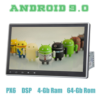 PX6 10,2 Android 9,0 автомобиля gps радио плеер для автомобиля 1 din с DSP Wi Fi usb 4 + 64 ГБ ips Авто Радио стерео мультимедийная Главная панель