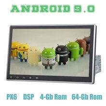 PX6 10,2 «Android 9,0 автомобиля gps радио плеер для автомобиля 1 din с DSP Wi-Fi usb 4 + 64 ГБ ips Авто Радио стерео мультимедийная Главная панель