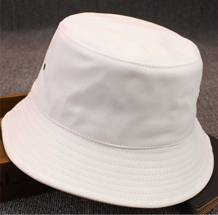 9f7c9567af6 Yyun Women Soft Matte PU Leather Bucket Hat Men Winter Foldable Fisherman Hat  Solid Color Bob Cap-in Bucket Hats from Apparel Accessories on  Aliexpress.com ...