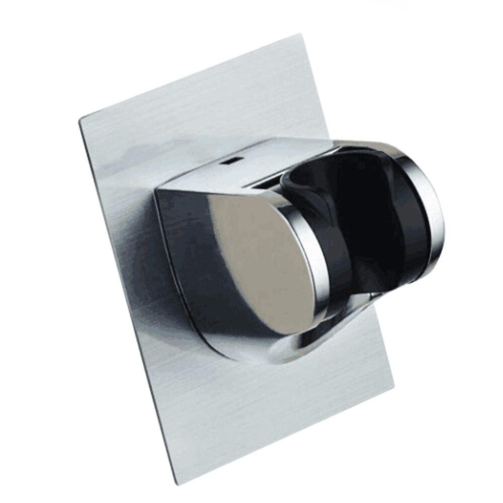New Adjustable Shower Head Handset Holder Chrome Bathroom Wall Mount Sticker Bracket Shower Head Holder