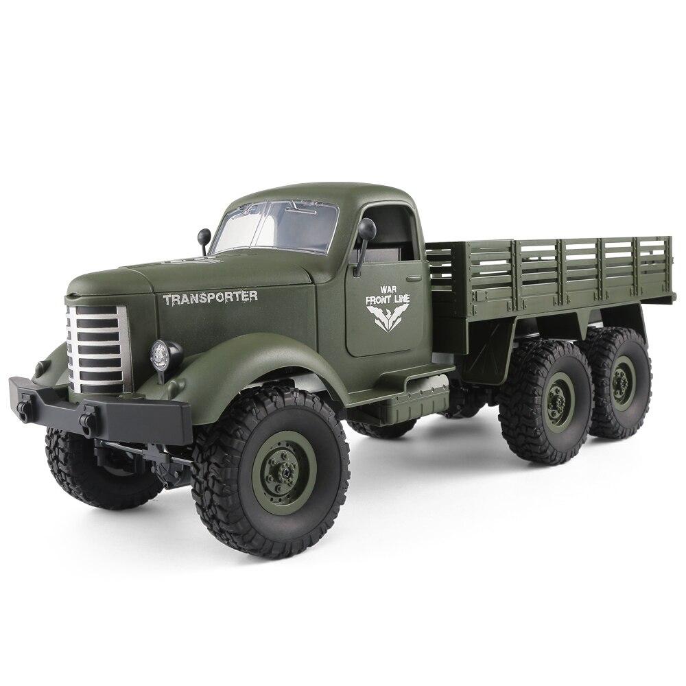 JJRC Q60 RC 1: 16 дистанционное управление 2.4g 6WD отслежены внедорожных армия RC Грузовик РТР wpl игрушки для детей радио-Управление led автомобили арми...
