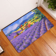 Flannel Mats Fields and Gardens Printed Bedroom Carpets Countryside Pattern Mat for Living Room Anti-Slip Tapete(China)