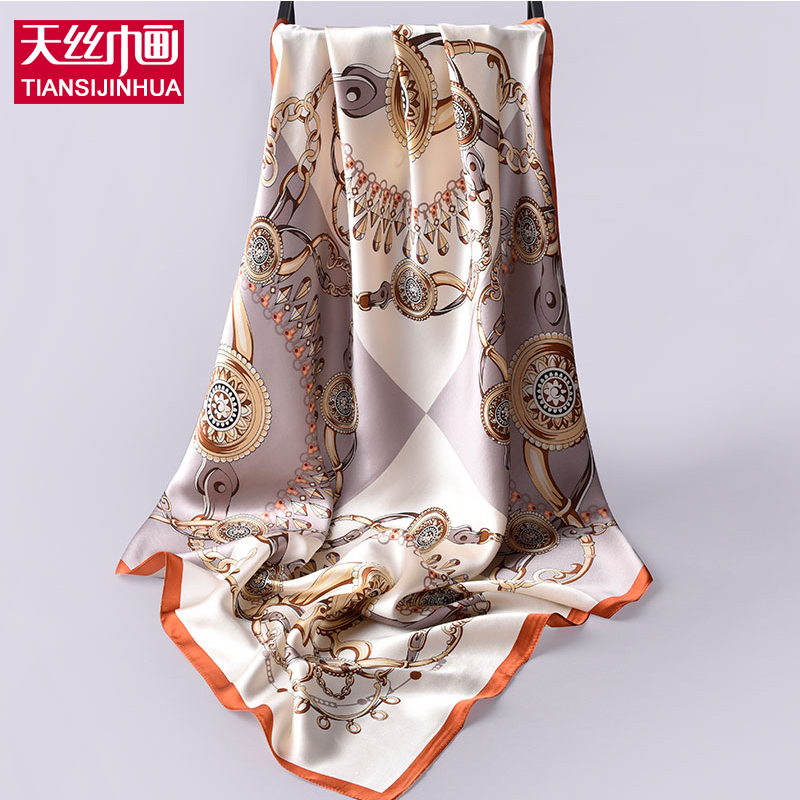 New fashion 90*90cm 100% silk scarf luxus