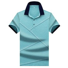 2019 High Quality Branded Clothes Summer New Style Men's Short Sleeve Polo Shirt Business   Casual Irregular Stitching POLO Male new 2017 ropa bebe branded summer quality 100