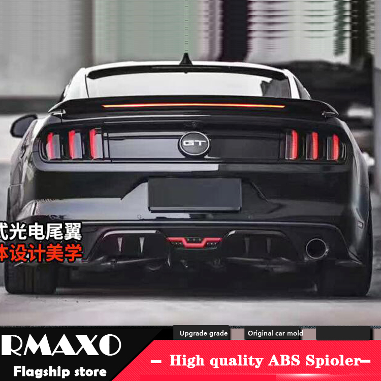For 2015-18 Ford Mustang S550 GT Rear Window Roof Spoiler Wing Unpainted Primer