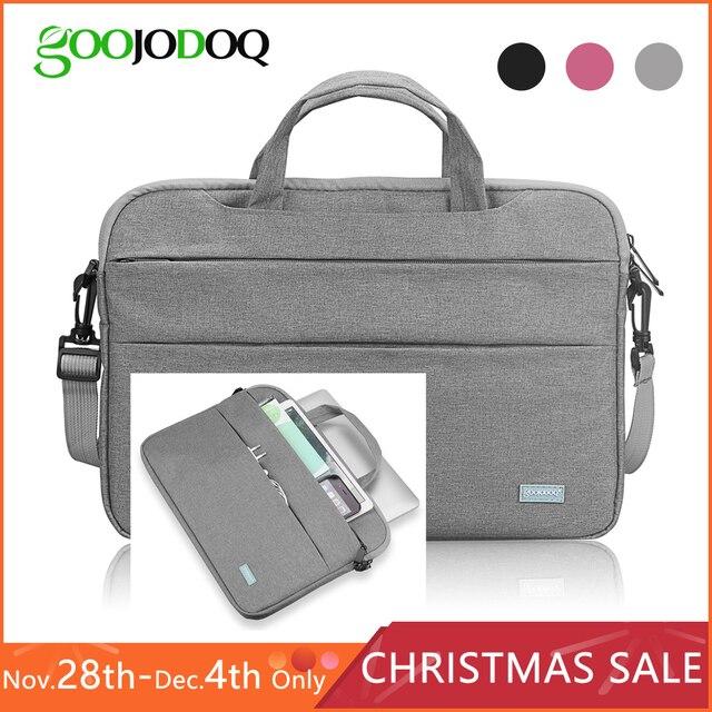 "Waterproof Women Men Laptop Bag 13.3 15.4"" Case for Macbook Air 13 15 Bag 11 12 14 Macbook Pro 15 touch bar Sleeve with Strap"