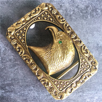 TOP Quality Brass Chinese Style Brass Eagle Head Belt Buckle For Man Belt Leather Luxury Belt