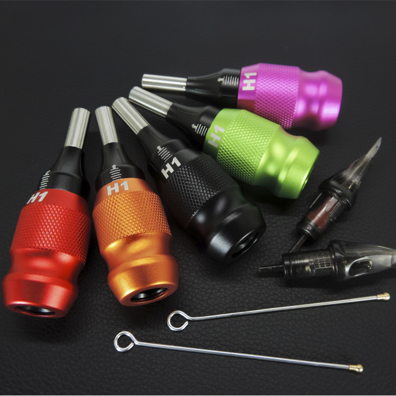 Tattoo Grip Cartridge 25mm Adjustable Cartridge Grips Tattoo Aluminum Alloy Machine Grips Tubes And Pole For  Tattoo Machine