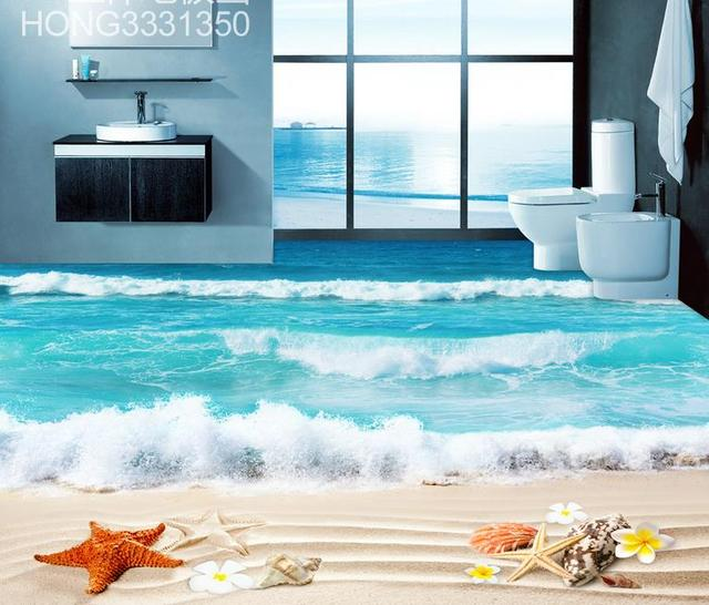 Photo wall murals waterproof 3d flooring vinyl wallpaper for Waterproof wallpaper for walls