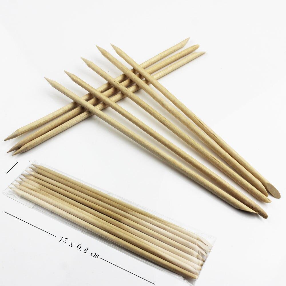 Nails Art Cuticle Remover Pusher Stick Unghie Round Wooden Orange Sticks Dots Nail Polish Ongle Manicura Tools Unhas Ferramentas
