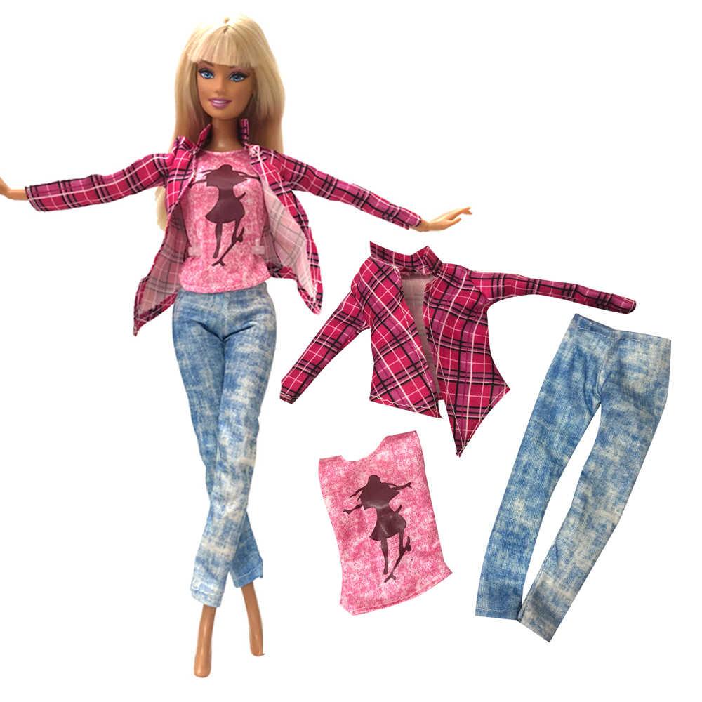 Nk 2020 mais novo vestido de boneca roupas vestido moda dança ballet vestido saia vestido de festa para barbie boneca acessórios presente da menina jj