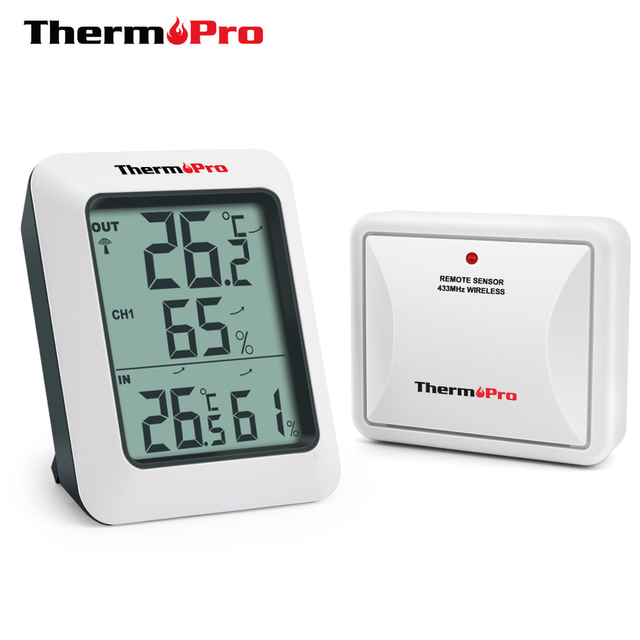 ThermoPro TP60S 60M Wireless Digital Room Thermometer Indoor Outdoor Thermometer Humidity Monitor Weather Station