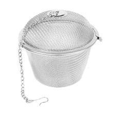 #Cu Tea Stainless Strainer Locking Tea Spice Mesh Stainless Herbal Ball Diam 5cm