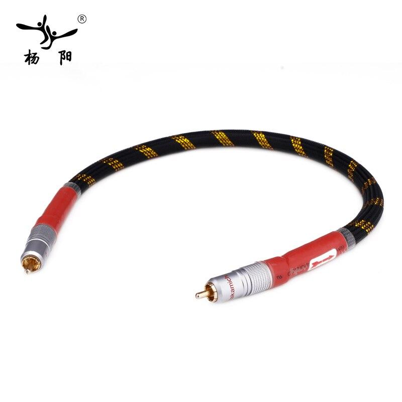 YYAUDIO 8N OFC Ortofon Hifi Coaxial Cable High Quality DAC 75ohm hifi Digital RCA Cable