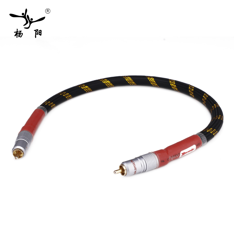 YYAUDIO 8N OFC Ortofon Hifi Coaxial Cable High Quality DAC 75ohm hifi Digital RCA Cable