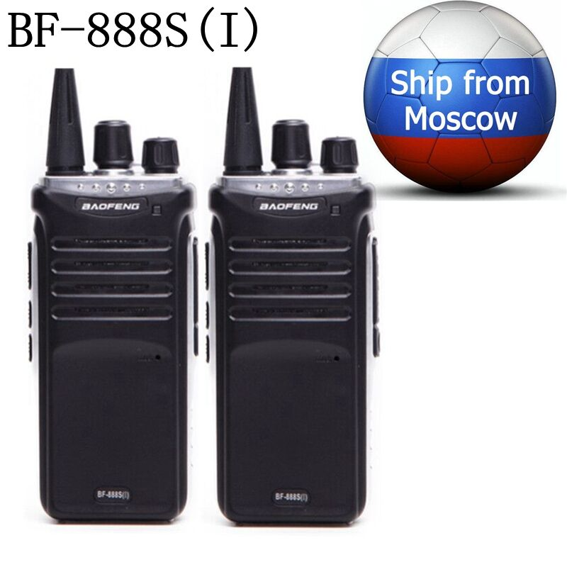 2PCS Baofeng BF-888S(I) UHF 400-470Mhz mini Walkie Talkie Long Distance Range Communication Two Way Radio Upgrade of BF 888S