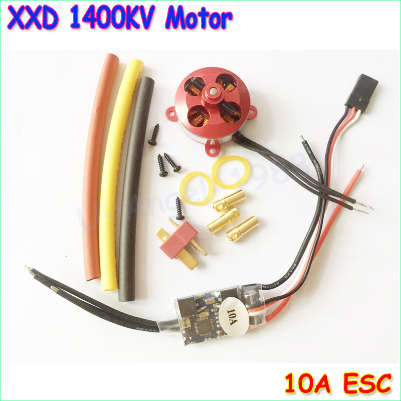 A 2204 A2204 7.5A 1400KV 50W SP Micro Brushless Motor W/ Mount + 10A ESC For RC Aircraft/KK copter Quadcopter UFO 4pcs 6215 170kv brushless outrunner motor with hv 80a esc 2055 propeller for rc aircraft plane multi copter