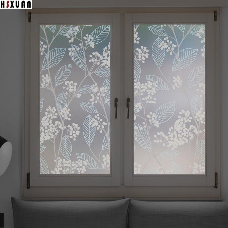 Decorative Window Films 40x100cm Pvc Flower Privacy