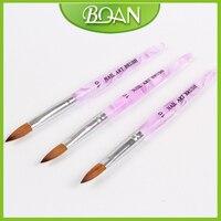 BQAN Free Shipping Purple Acrylic Handle Pure Sable Brush For Acrylic Nails 10