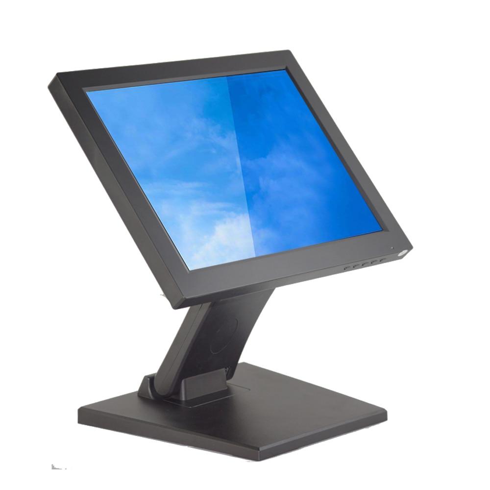 Métal support du moniteur 12 pouce LCD tactile écran Center Commercial moniteur caisse enregistreuse d'affichage