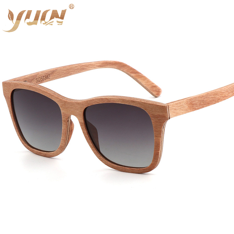 New Arrival  hand-made Skateboard Wooden Sunglasses Men Women Polarized Sun Glasses  UV400 shades classic wooden eyewear  oculos