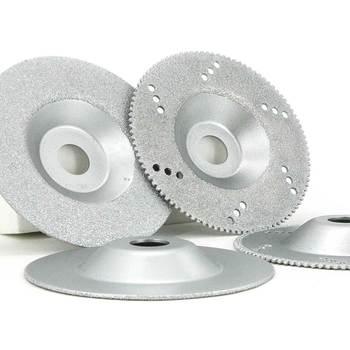 цена на 5pcs 4 brazed diamond abrasive disc for stone,marble,tiles,glass,ceramics, vitrified brick, cast iron grinding  polishing GJ009