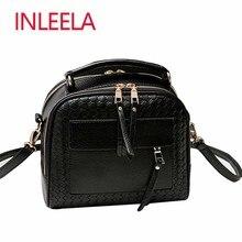 INLEELA New Arrival Knitting Women Handbag Fashion Weave Shoulder Bags Small Casual Cross Body Bag Retro Totes