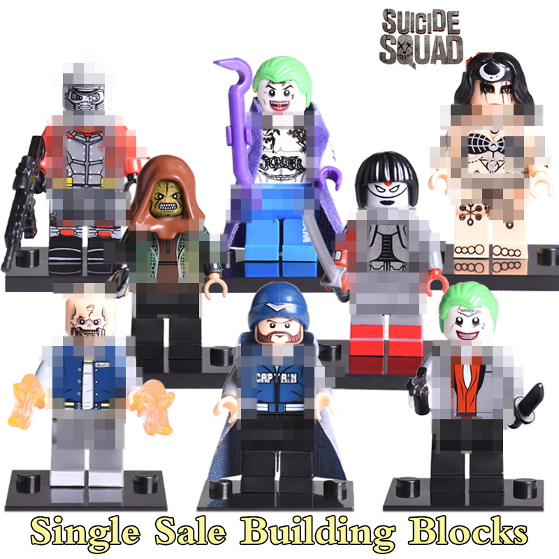 Joker Boomerang Killer Croc Katana Deadshot Suicide Squad Enchantress Bricks Super Heroes DIY Figures Children Gift Toys X0122 boomerang alpha line 3
