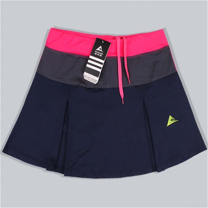 Women Sports Badminton Skirt Tennis Skorts Spring Summer Quick drying Patchwork Female Training Skirts with Safety Shorts