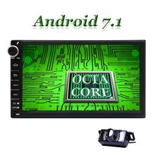 Android 7.1 Car Radio Stereo Bluetooth GPS Navigation 2din Touchscreen Support Mirror Link WIFI OBD2 DVR Subwoofer Backup Camera