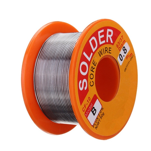 New Arrival Best Price High Quality 0.8mm 50g Rosin Core Solder 63/37 Tin Lead Flux Soldering for Welder Iron Wire Reel