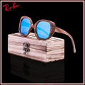 2017 New Cool fashion Products Men Women Glass Bamboo Sunglasses au Retro Vintage Wood Lens Wooden Frame Handmade UV400