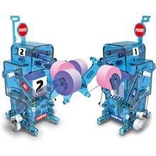 SUBOTECH DIY004 DIY Boxing Fighter Self-Assembled Electronic Building Robot Blocks Kit Educational Remote Control Toys For Kids цена в Москве и Питере