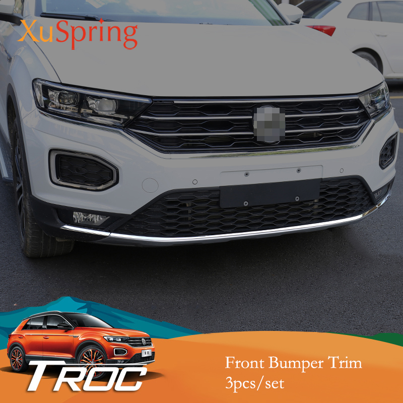 for VW T-roc Troc 2017 2018 2019 Car Front Bottom Bumper Molding Racing Grill Trim Cover Garnish Sticker Styling Stripsfor VW T-roc Troc 2017 2018 2019 Car Front Bottom Bumper Molding Racing Grill Trim Cover Garnish Sticker Styling Strips