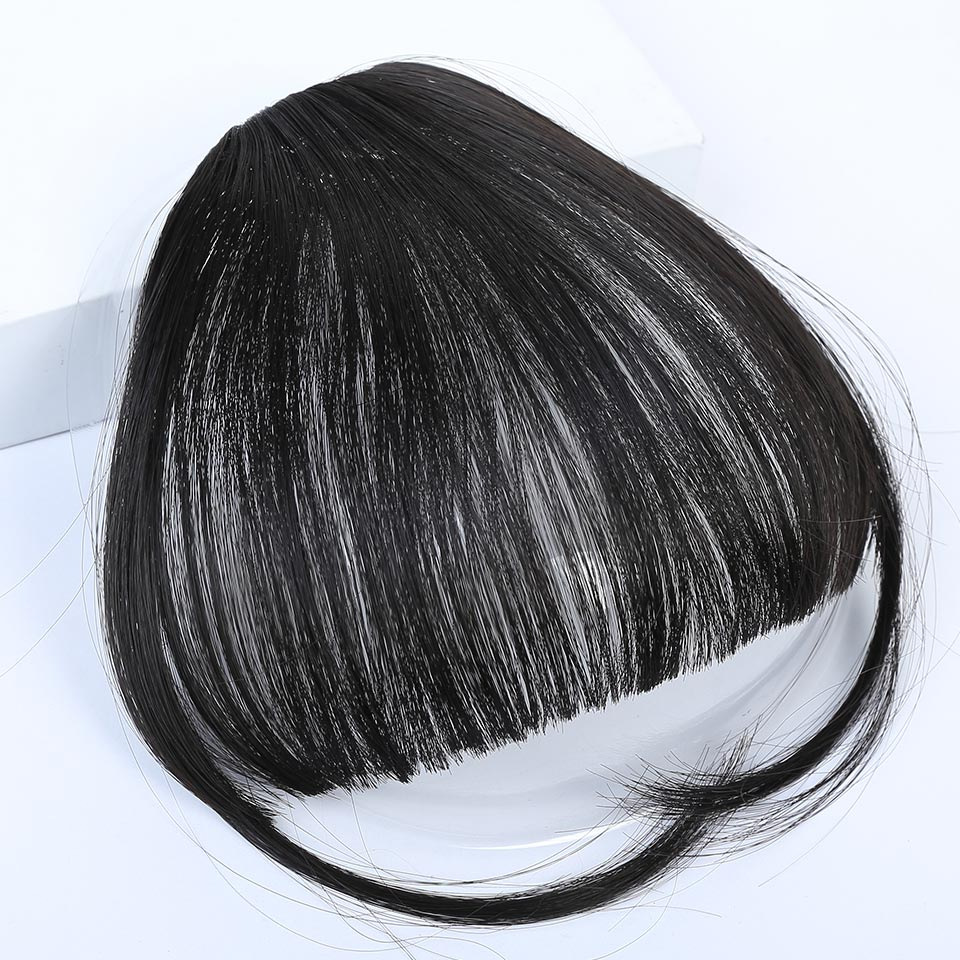 HiDoLA Cute Short Neat Bangs Clip on Front Neat Bang Fringe Clip In Hair Extensions headwear in Women 39 s Hair Accessories from Apparel Accessories