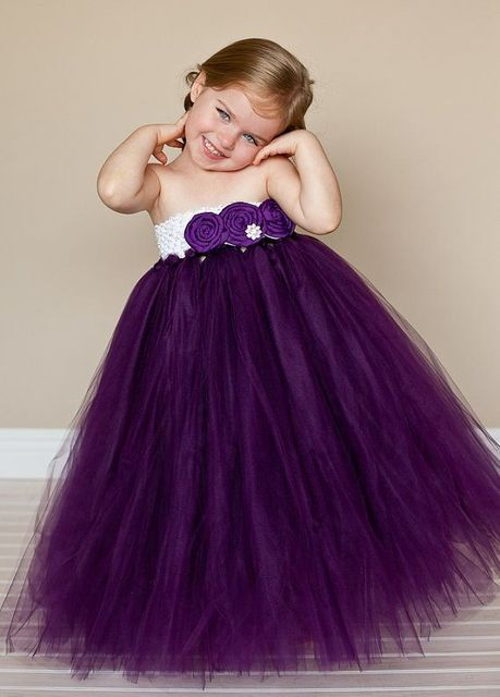 Ball Gown Flower Girl Dresses Purple for Wedding Kids Princess ...