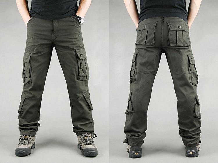 19 Spring Winter Military Pants Men Khaki Cargo trousers Casual Cotton Tactical Pants Men Big Size Army Overol Hombre 9