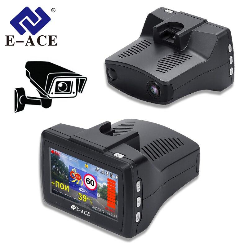 E-ACE 3-In-1 Car-Dvr Radar-Detector Video-Recorder Dvrs Dash-Camera Auto-Registrator