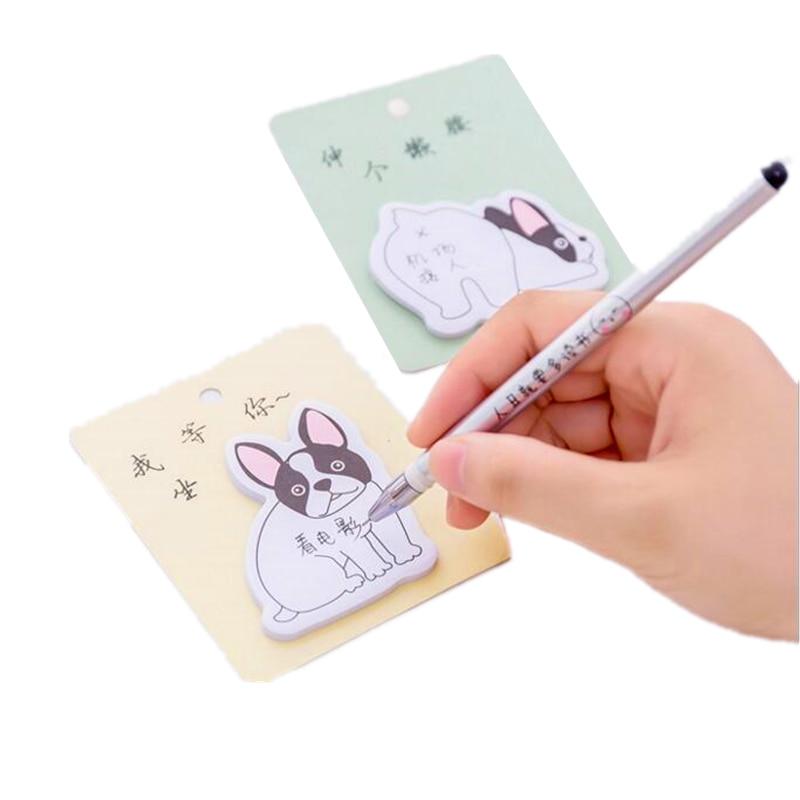 2PCS Korea Stationery Sticky Notes Creative Cartoon Dog Style N times Stickies Shape School Office Supplies Memorandum Signed