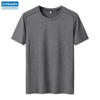 Szybkie suche koszulki z krótkim rękawem letni mężczyzna Camping piesze wycieczki koszulki wspinaczka Fitness Sport koszulki biały bieganie jazda na rowerze topy Plus rozmiar tanie i dobre opinie Camping i piesze wycieczki Tees Poliester Stałe Drytec Pasuje mniejszy niż zwykle proszę sprawdzić ten sklep jest dobór informacji