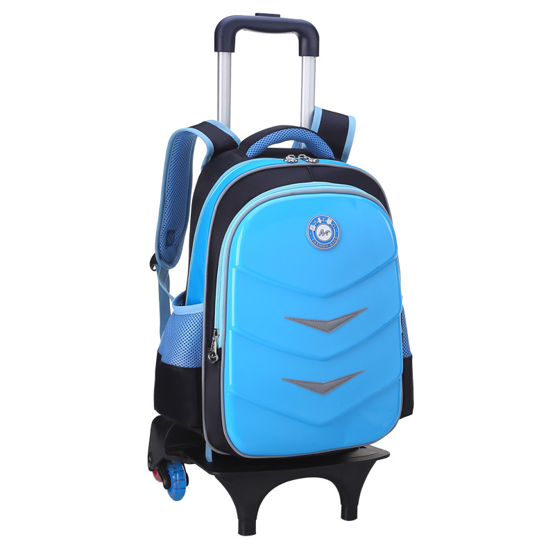 2017 Children Trolley school Backpack Fashion Cartoon School Wheeled Bag Girls Boys Detachable Backpack kids schoolbags mochila цена 2017