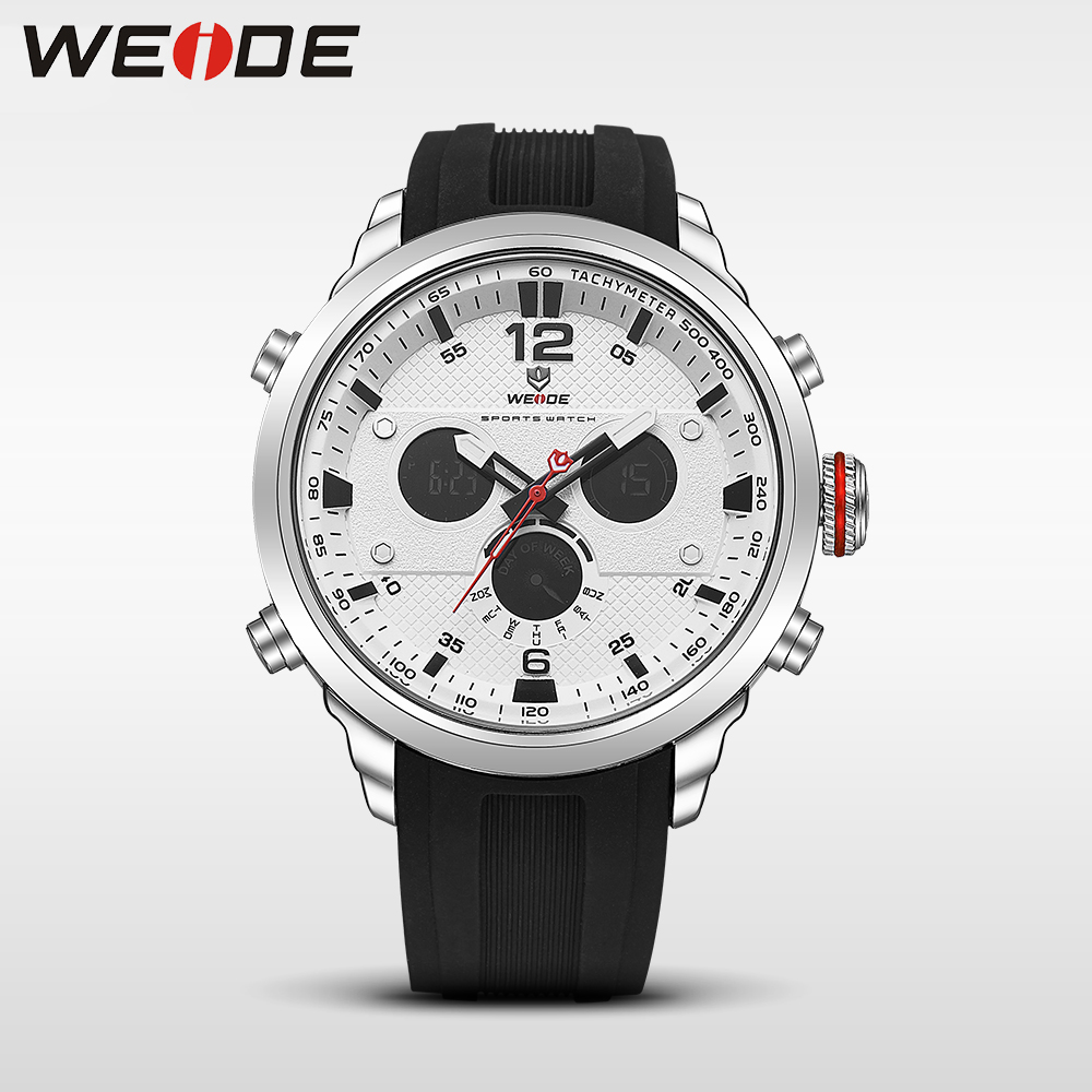 WEIDE LCD men watch sport digital luxury brand black army quartz watches water resistant Schocker fashion casual alarm clock