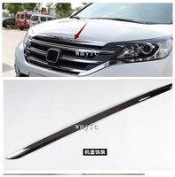 fit for Honda CRV CR V 2012 2013 2014 ABS Chrome Front Bonnet Machine Cover Molding Trim 1pcs car Accessories