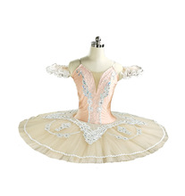 Professional Ballet Tutu Orange Classical Pancake Platter Tutu Skirt Peach Nutcracker Ballet Stage Costume Esmeralda tutu