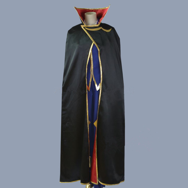 Code Geass Cosplay Lelouch of the Rebellion Zero Cosplay Purple Mens Code Geass Cosplay Costume Full Set With Wig