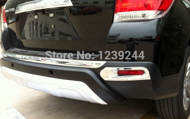 Details about Chrome Rear Fog Light lamp cover Trim For Toyota Highlander 2011 2012 2013