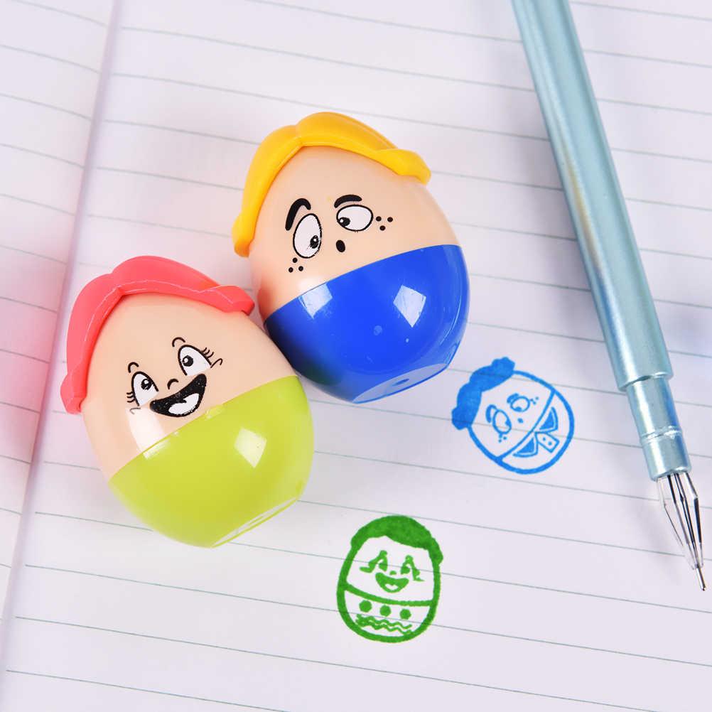 HENGHOME kualitas tinggi Indah clown Cap DIY Buatan Tangan Scrapbook Album Foto segel guru siswa anak hadiah mainan Stamp