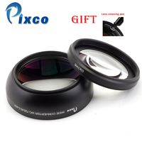 Professional 72mm 0 45X Wide Angle Macro Conversion Lens Suit For Canon Nikon Sony With Lens