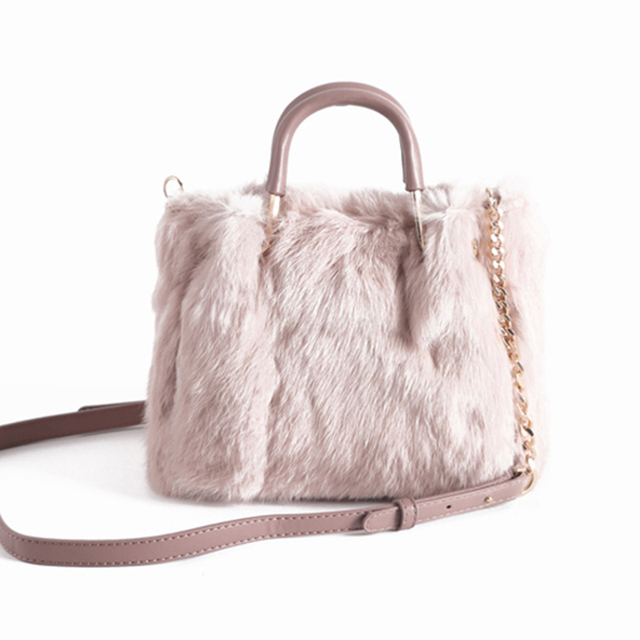 b1ddeff16791 Luxury Handbags Women Bag Designer Fashion Rabbit Fur Bag Brand Female  Messenger Bag Winter Ladies Crossbody Tote Bags