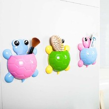 BF040 Creative cute cartoon turtles strong suction receptacle storage rack 12*16.5cm